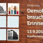 """Aktionstag """"Demokratie braucht Erinnerung"""" 13. September 2014"""