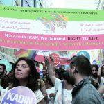 Demo Iran ganz blass