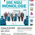 """01.Juni 2018 Theaterstück der Bühne für Menschenrechte: """"Die NSU-Monologe"""""""