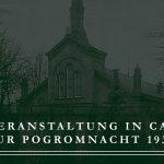 """9.November: Gedenkveranstaltung zur """"Pogromnacht"""" 1938 am Platz der ehemaligen Cannstatter Synagoge"""