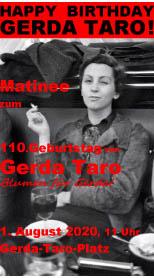 1. August 2020: Gerda Taro!