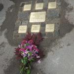 Stolpersteine für 6 in Welzheim ermordete Zwangsarbeiter aus der UdSSR, Schlotwiese Zuffenhausen, Foto:  Möller